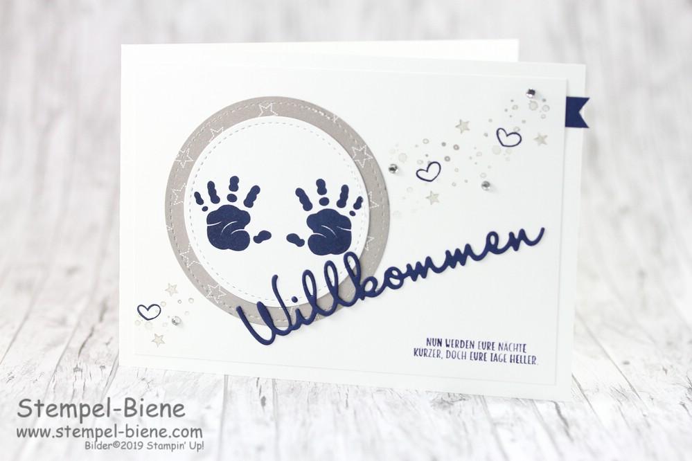 Stempel Biene Babykarte Mit Stampin Up First Steps