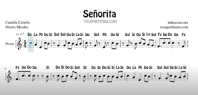 Señorita EASY FREE SHEET MUSIC FOR FLUTE VIOLIN OBOE AND OTHER INSTRUMENTS