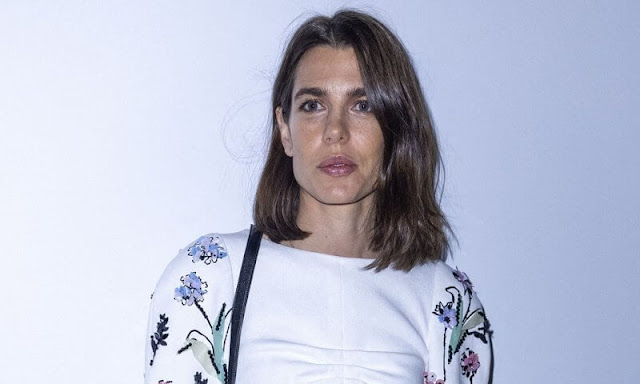 Charlotte Casiraghi wore a new embroidered dress from the Resort 2022 collection of Chanel. Chanel Cruise 2021/22 collection