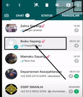 Cara Menyembunyikan Chat Whatsaap Tanpa Arsip