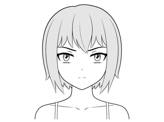 Gambar wajah gadis nakal anime