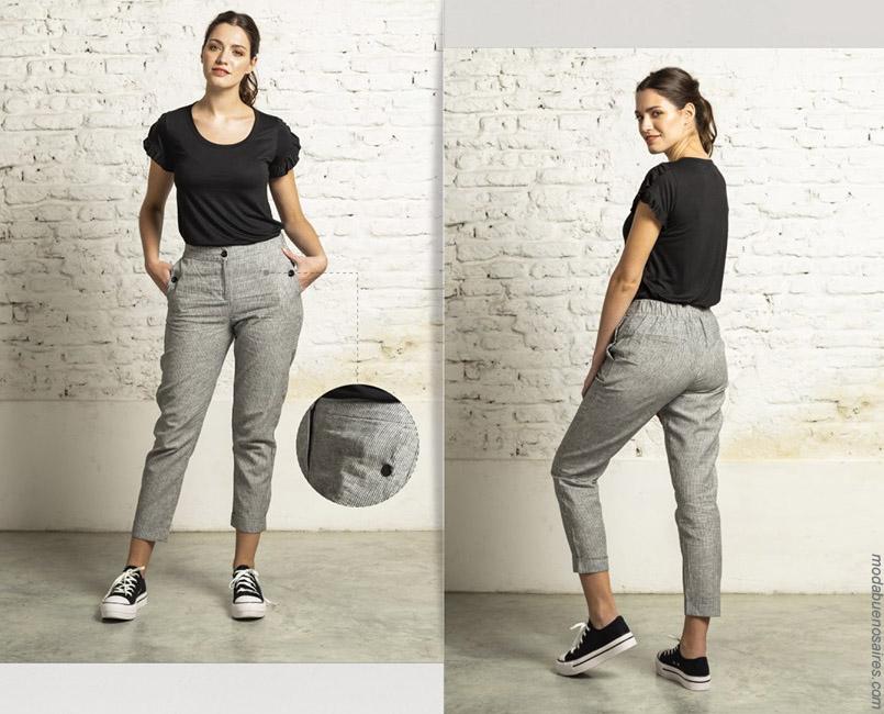 Pantalones de moda para mujer primavera verano 2020.