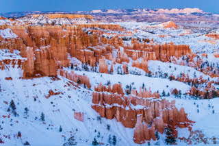 Cramer Imaging's fine art landscape photograph of a snow-covered Sunset Point at Bryce Canyon National Park Utah