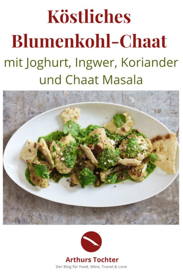 So habt ihr Blumenkohl noch nie gegessen! Als Chaat Masala mit Ingwer, Jalapenos und Joghurtsauce mit Koriander und gerösteten Mandeln mit Fladenbrot #blumenkohl #vegetarisch #rezept #auflauf #curry #ofen #indisch #ottolenghi #koriander #backofen #geröstet #joghurt #ingwer #vegan #masala #kartoffel #tikka #chicken #foodblog #foodstyling #foodphotography