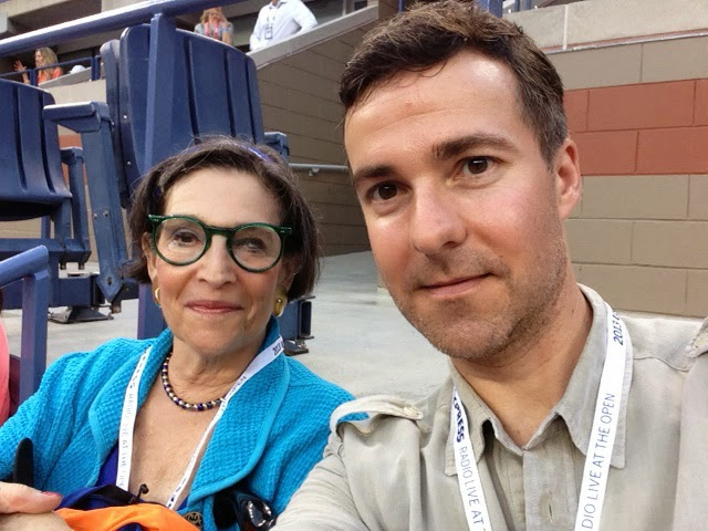 Karen with David Ebershoff at the US Open (New York, September 2013)