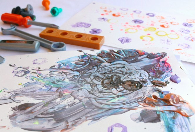 Process Art Painting with Tools