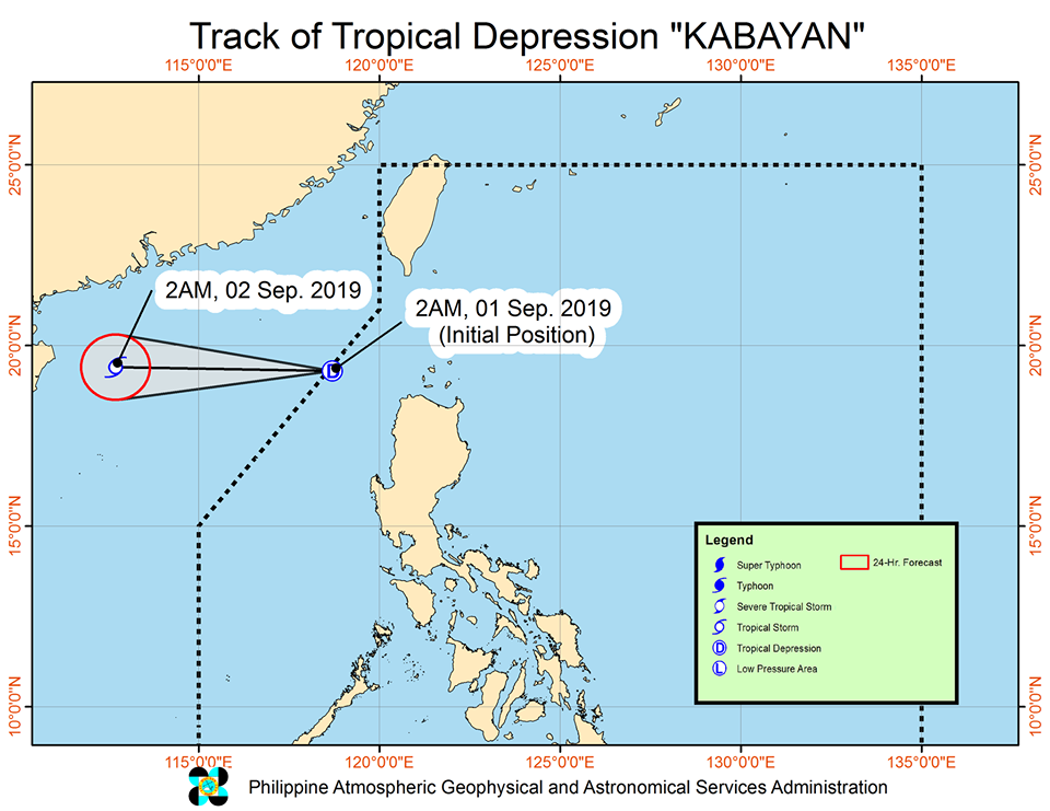 'Bagyong Kabayan' is expected to exit the Philippine Area of Responsibility (PAR) this Sunday morning