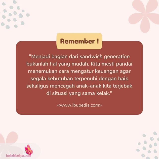 Mencegah Sandwich Generation