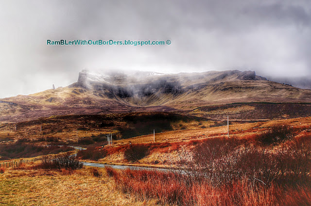 The Storr covers in mist, Isle of Skye, Scotland, UK