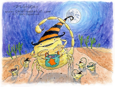 Trick or Treat Halloween Scorpion