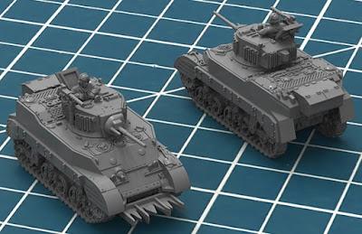 M5 Stuart Tank Render