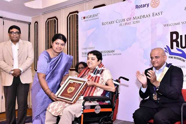 Rotary Club of Madras East Honors Three Unsung Heroes