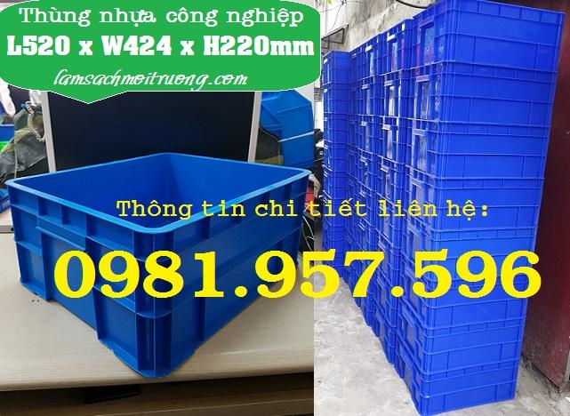 Hộp nhựa B8, hộp nhựa công nghiệp, sóng nhựa bít 2T2