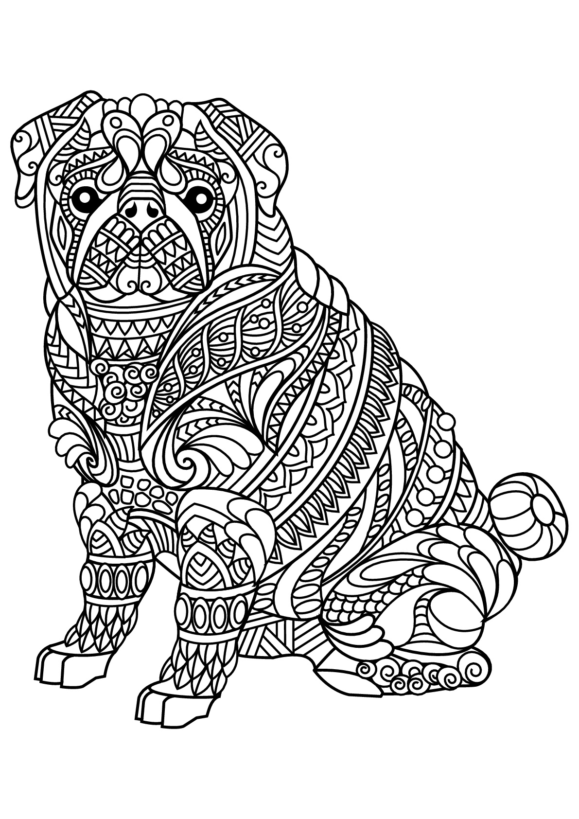 Dogs coloring pages 89