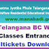 TS BC Welfare 6th,7th Classes Entrance Test Hall Tickets­ 2017 download from mjpabcwreis.cgg.gov.in