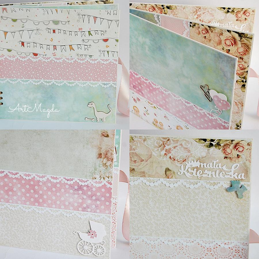 album handmade, na roczek, dziecka, ArtMagda, ręcznie robiony