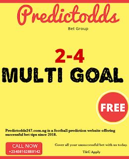Multigoals 2-4 bets