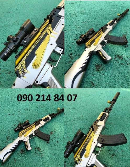 Súng mô hình Pubg đạn thạch AKM _1