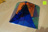 Zelt vorne: Playbees 100 Teile Magnetische Bausteine Set für 2D und 3D Form Konstruktionen, Regenbogenfarben Magnetspielzeug, Baukasten Magnetspiel, Magnetbausteine