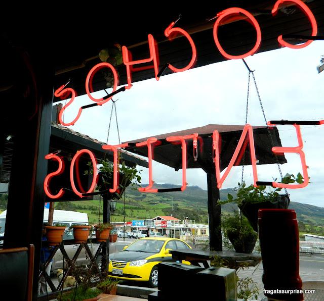 Lanchonete na estrada de Quito a Otavalo, Equador