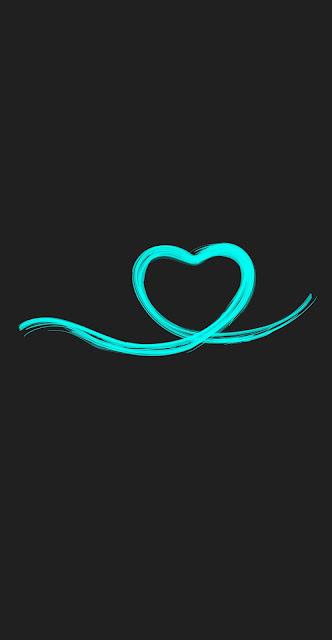 heart love Iphone wallpaper black wallaper