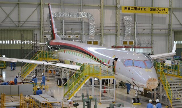 Final Assembly of Mitsubishi Regional Jet