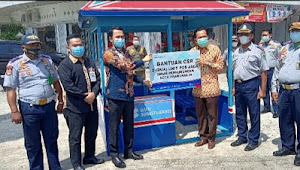 Bank Sumsel Babel Cabang Prabumulih Bantu Pos Jaga Dishub Kota Prabumulih