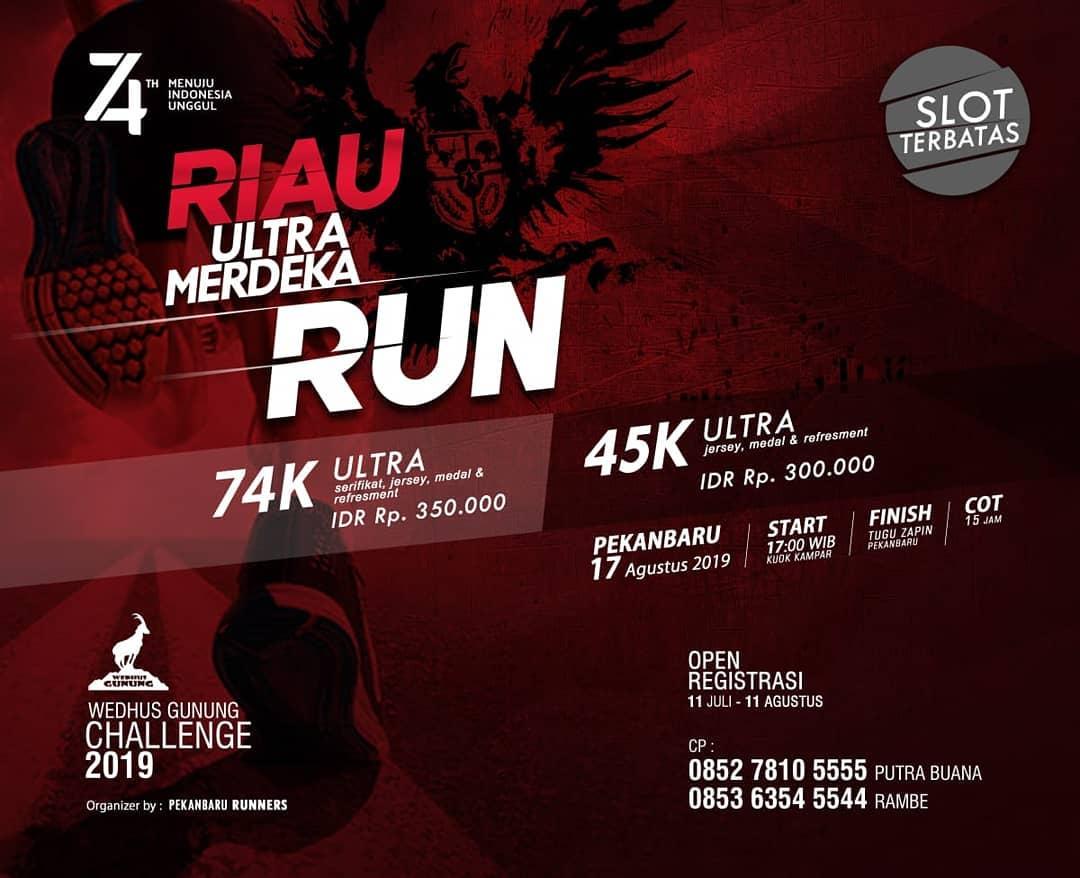 Riau Ultra Merdeka Run - Wedhus Gunung Challenge • 2019