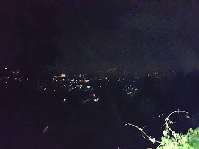 The city lights view of Bandung city in Indonesia