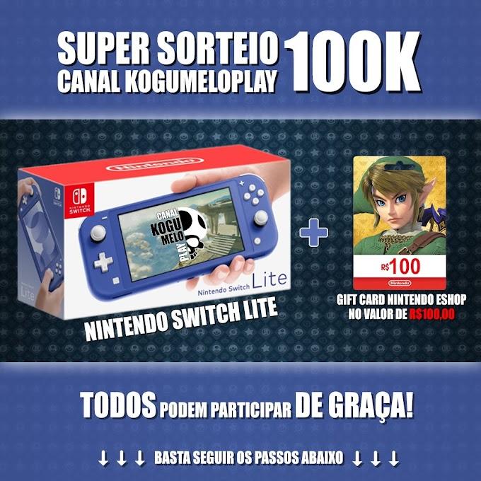 Sorteio Nintendo Switch Lite + Gift Card de R$100,00