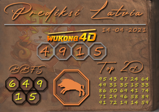 PREDIKSI TOGEL LATVIA WUKONG4D 14 APRIL 2021