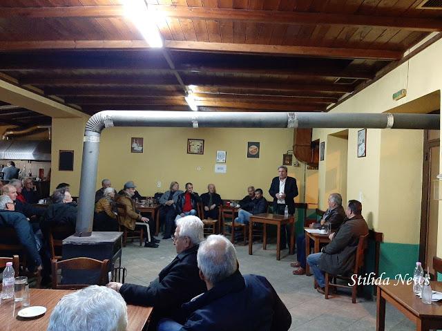 Πελασγία: Κώστας Μπασδέκης - ομιλία συζήτηση με τους κατοίκους