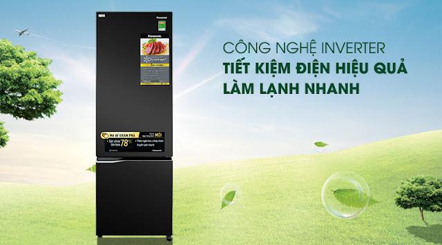 Tủ lạnh Panasonic Inverter 322 lít NR-BC360QKVN