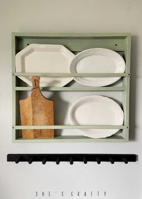 Wall mounted dish rack  |  Platter holder  |  farmhouse kitchen