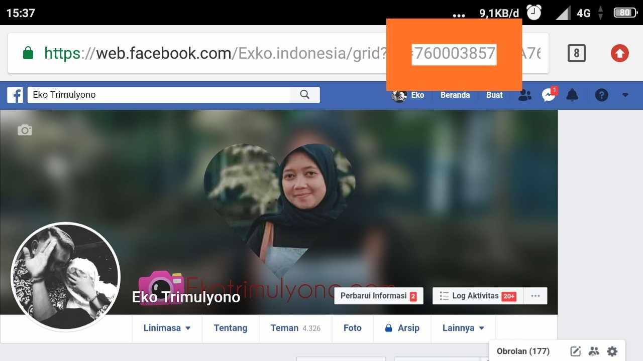 Cara Melihat id facebook kita sendiri