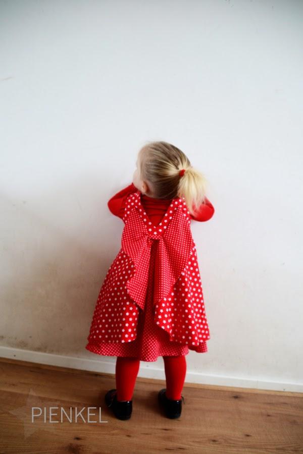 Red Secret Garden Dress, sewn by Pienkel