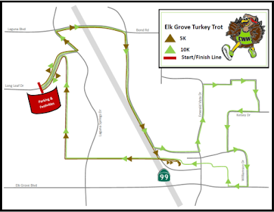 Elk Grove Issues Traffic Advisory, Detour Notice For Thanksgiving Day Turkey Trot