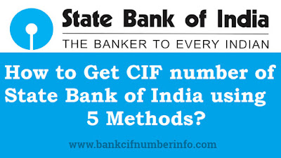 How to Get Cif number of SBI