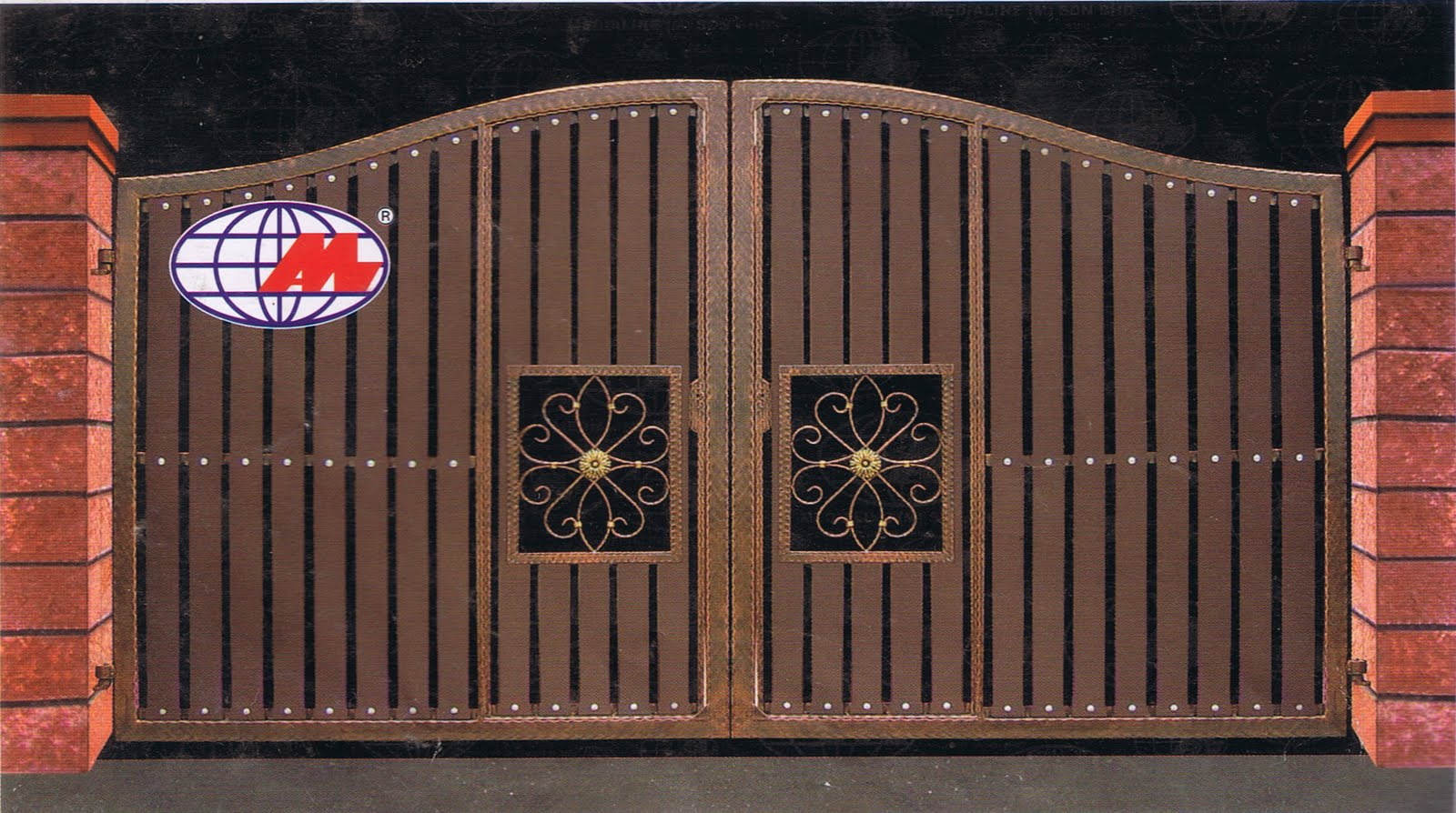 MAN JAYA ENGINEERING: LATEST DESIGN FOR IRON AND WOOD GATE on Iron Get Design  id=52407