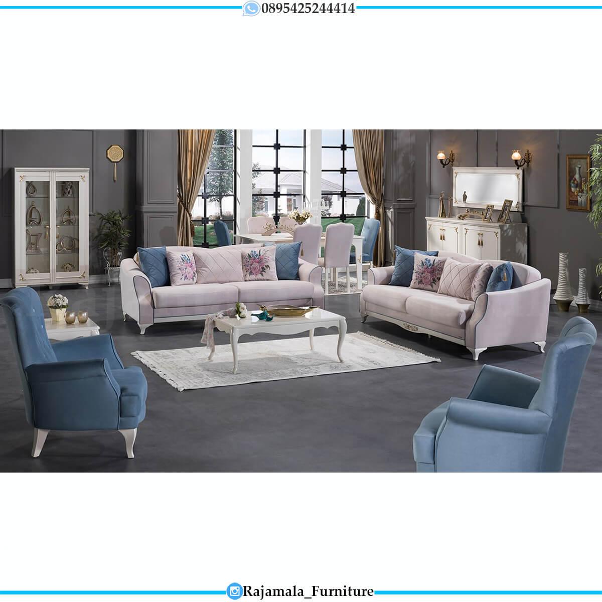 New Set Sofa Tamu Minimalis Jepara Putih Duco Excellent Color RM-0628