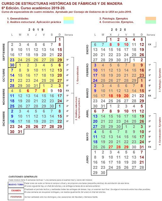 Calendario Uex.Uex Investigacion Construccion Curso De Estructuras Historicas