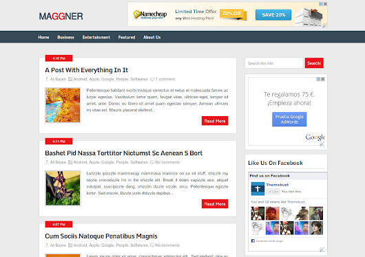 Maggner Blogger Template | Vice Blogger