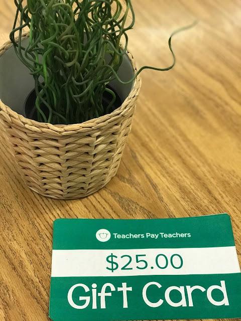 Teacher Giveaway $25 Teachers pay Teachers Gift Card