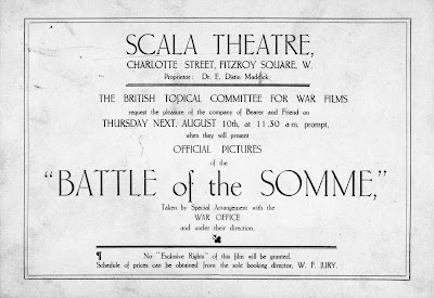 Póster original documental La batalla del Somme