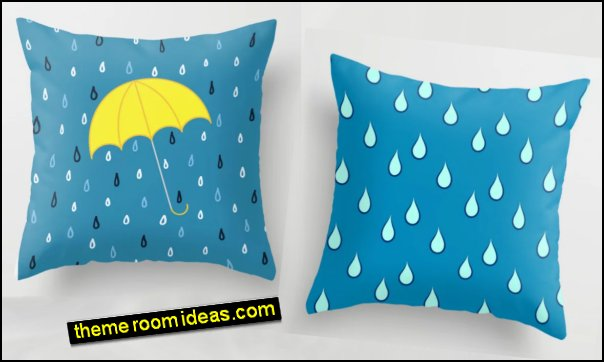 Rainy Day Throw Pillow  April Showers Throw Pillow weather bedroom decor