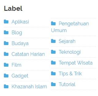 Cara Menghapus Label Blog