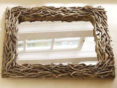 DIY Kαθρέφτες με Θαλασσόξυλα