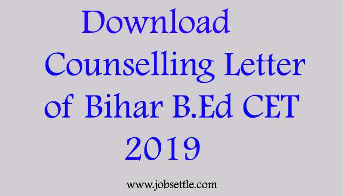 registration for cunselling of bihar b.ed cet 2019