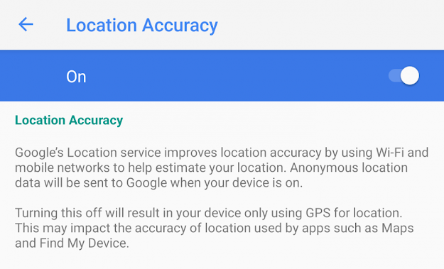 GPS and Location Setting in Android
