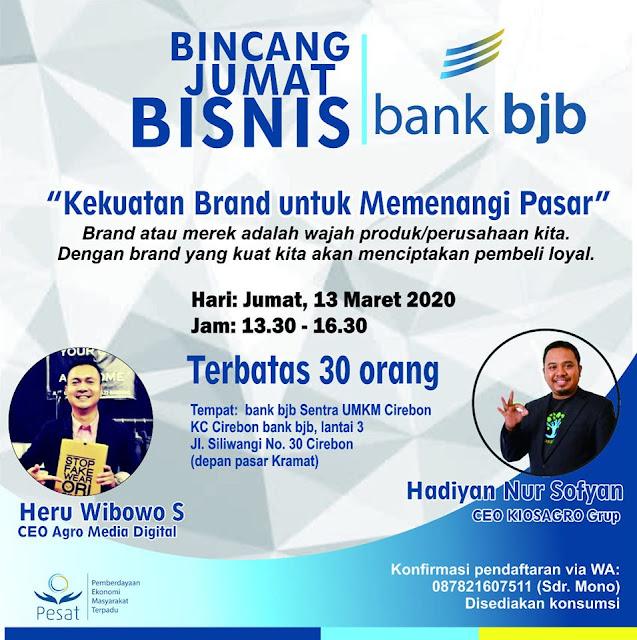 Kiosagro Bincang Jumat Bisnis bersama Bank bjb Cirebon